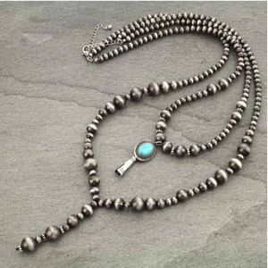 3D Single Squash Blossom Bead Necklace